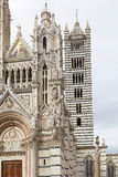 从锡耶纳大教堂的钟楼,锡耶纳,托斯卡纳,意大利 免版税库存照片