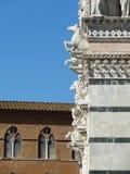 锡耶纳大教堂美好的细节  库存图片