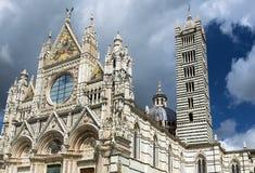 锡耶纳大教堂致力圣母升天节 免版税库存照片