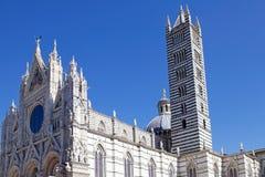 锡耶纳大教堂,托斯卡纳,锡耶纳,意大利 图库摄影