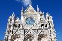 锡耶纳大教堂,托斯卡纳,锡耶纳,意大利 库存照片
