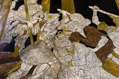 锡耶纳大教堂,锡耶纳,意大利的路面 免版税库存图片