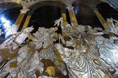 锡耶纳大教堂,锡耶纳,意大利的路面 免版税图库摄影