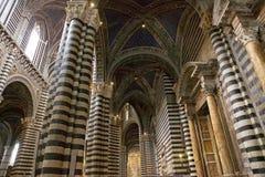 锡耶纳大教堂,锡耶纳,托斯卡纳,意大利 库存照片