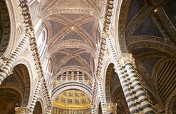 锡耶纳大教堂,锡耶纳,托斯卡纳,意大利 免版税图库摄影