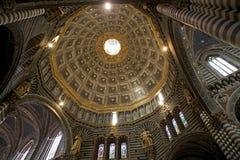锡耶纳大教堂,锡耶纳,托斯卡纳,意大利 免版税库存图片