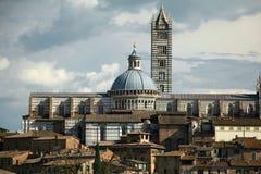 锡耶纳意大利大教堂视图 库存照片