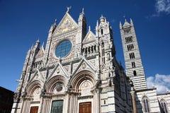 锡耶纳意大利大教堂 库存图片