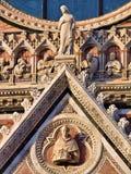 锡耶纳托斯卡纳意大利中央寺院 免版税图库摄影