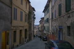 锡耶纳街道,意大利 库存照片