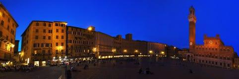 锡耶纳,中央Italya€Tss的Piazza del园地一个城市 库存图片