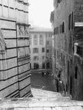 锡耶纳,大教堂楼梯 免版税库存图片