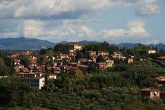 锡耶纳,托斯卡纳美好的风景  免版税图库摄影