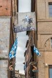 锡耶纳,托斯卡纳,意大利contrada区 免版税库存照片