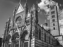 锡耶纳` s大教堂黑色和与 图库摄影