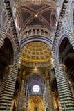 锡耶纳Duomo di Diena 库存照片