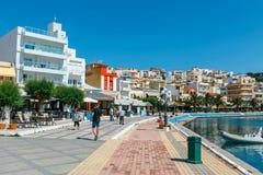 锡蒂亚,克利特,希腊pictursque港  锡蒂亚是一个传统镇在东部克利特n 库存图片