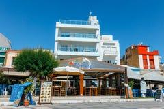 锡蒂亚,克利特,希腊pictursque港  锡蒂亚是一个传统镇在东部克利特n 图库摄影