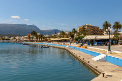 锡蒂亚,克利特,希腊pictursque港  锡蒂亚是一个传统镇在东部克利特n 库存照片