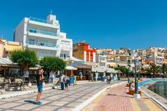 锡蒂亚,克利特,希腊pictursque港  锡蒂亚是一个传统镇在东部克利特n 免版税图库摄影