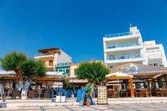 锡蒂亚,克利特,希腊pictursque港  锡蒂亚是一个传统镇在东部克利特n 免版税库存图片
