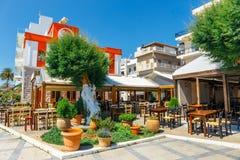 锡蒂亚,克利特,希腊pictursque港  免版税库存照片