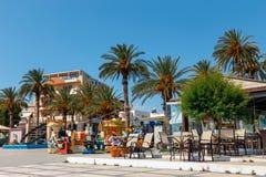 锡蒂亚,克利特,希腊pictursque港  免版税库存图片