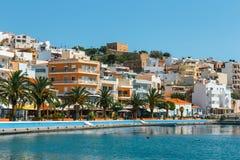 锡蒂亚,克利特,希腊pictursque港  免版税图库摄影