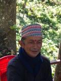 锡金当地人民在镇,甘托克市,锡金印度,第16个A里 免版税库存照片