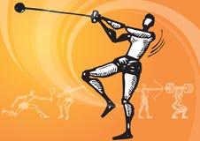锤子体育运动投掷 库存例证