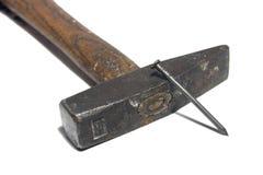 锤子钉子 免版税库存图片