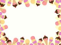 锥体奶油色框架冰 免版税库存照片