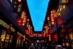 锦丽步行街道成都四川中国 库存图片