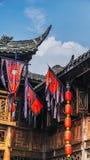 锦丽街道在成都,四川,中国 库存图片