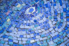 锦砖背景 马赛克装饰用不同的颜色 库存图片