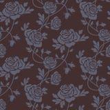 锦缎无缝模式的玫瑰 免版税库存照片