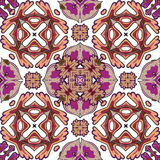 锦缎无缝的样式背景,摩洛哥五颜六色的装饰品 免版税库存图片