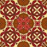 锦缎无缝的样式背景,摩洛哥五颜六色的装饰品 库存照片