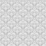 锦缎无缝的样式背景 古典豪华古板的锦缎装饰品,皇家维多利亚女王时代的无缝的纹理 向量例证