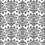 锦缎无缝的白色和黑样式 免版税库存照片