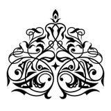 锦缎无缝的白色和黑装饰品 图库摄影