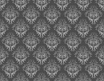 锦缎灰色模式 免版税库存图片