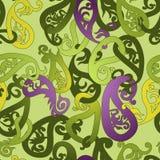 锦缎葡萄酒花卉无缝的样式背景。 免版税图库摄影