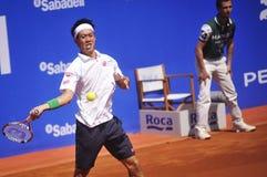 锦织圭打开2014 ATP 500 库存图片
