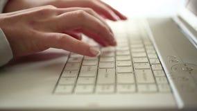 键入在个人计算机HD 1080i的女实业家时间间隔 影视素材