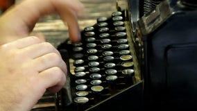 键入在文字机器 股票录像