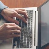 键入的路线膝上型计算机键盘改进训练 免版税库存照片