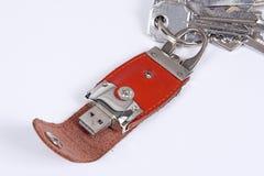 键存储器环形usb 免版税图库摄影