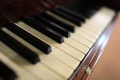 琴键的片段 免版税库存照片