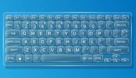 键盘个人计算机橡皮防水布glas丝毫阴影 免版税图库摄影